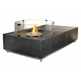 Ingot Byzantine Copper Bio-Ethanol Fuel Fire Pit Table