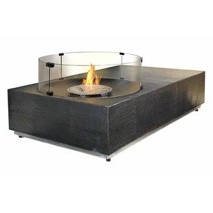 Ingot Byzantine Copper Bio-Ethanol Fuel Fire Pit Table by Seasonal Living Design
