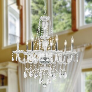 Astoria Grand Pulaski Traditional 8-Light Candle Style Chandelier