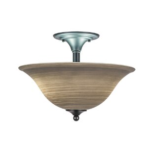 Toth 2-Light Semi Flush Mount by Red Barrel Studio