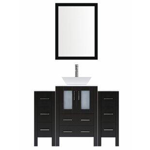Price comparison Modern 48 Single Bathroom Vanity Set with Mirror ByLessCare