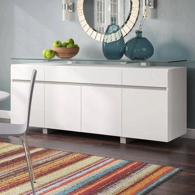 Latitude Run Yerkes Sideboard  Color: White Lacquer