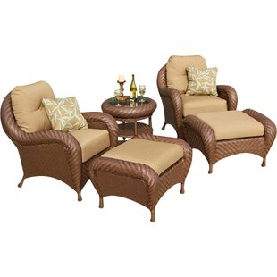 Soria 5 Piece Deep Sunbrella Seating Group with Cushions