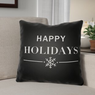 Happy Holidays Indoor/outdoor Throw Pillow
