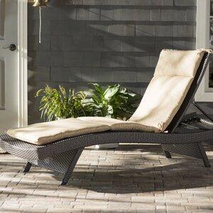 Aramantha Palm Outdoor Chaise Lounge Cushion