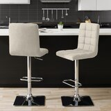 Dostie Swivel Adjustable Height Bar Stool (Set of 2) by Brayden Studio®