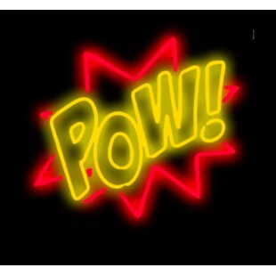 Pow! Neon Wall Light By Latitude Run