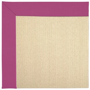 Lisle Machine Tufted Fuchsia/Brown Indoor/Outdoor Area Rug by Longshore Tides