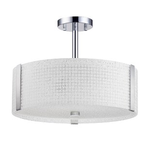 Glacier 3-Light Semi-Flush Mount by Kendal Lighting
