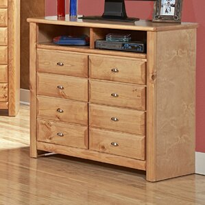 Eldon 8 Drawer Double Dresser by Harriet Bee