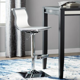 Wade Logan Bartow Adjustable Height Swivel Bar Stool