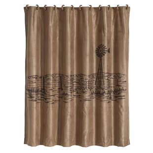 Somerset Shower Curtain with Embroidered Landscape