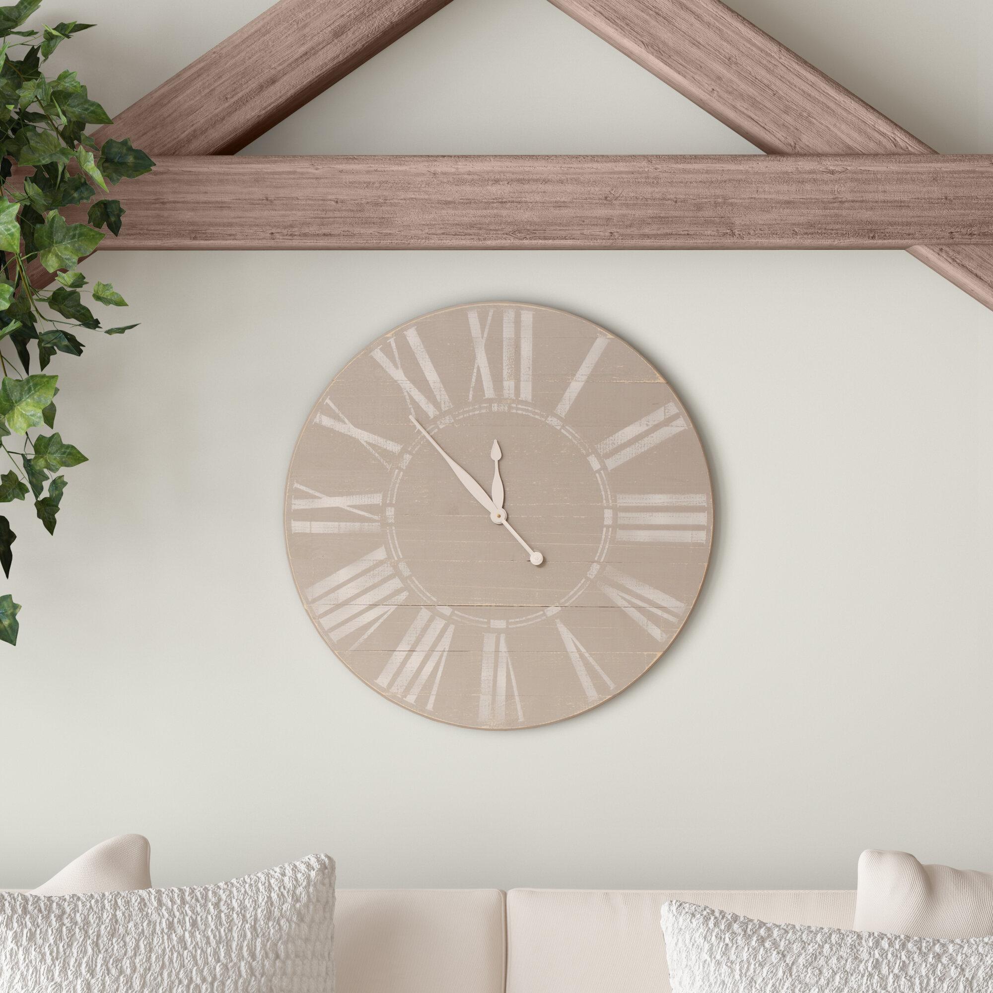 Shala Farmhouse Wall Clock