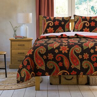 Midnight Paisley Reversible Quilt Set