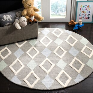 Brenner Hand-Tufted Wool Gray Diamonds Area Rug by Mack & Milo