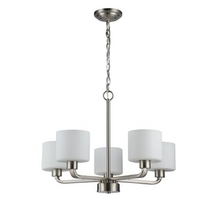Sakar Glass 5-Light Shaded Chandelier