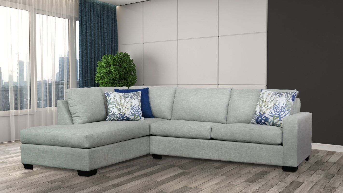 "Pritchett 116"" Left Facing Sectional & Reviews"