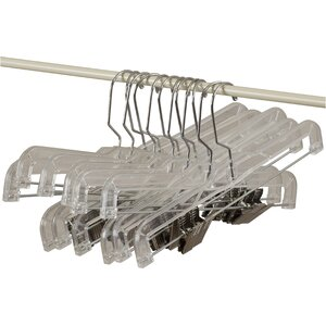 Wayfair Basics Plastic Skirt Hanger Set (Set of 12)