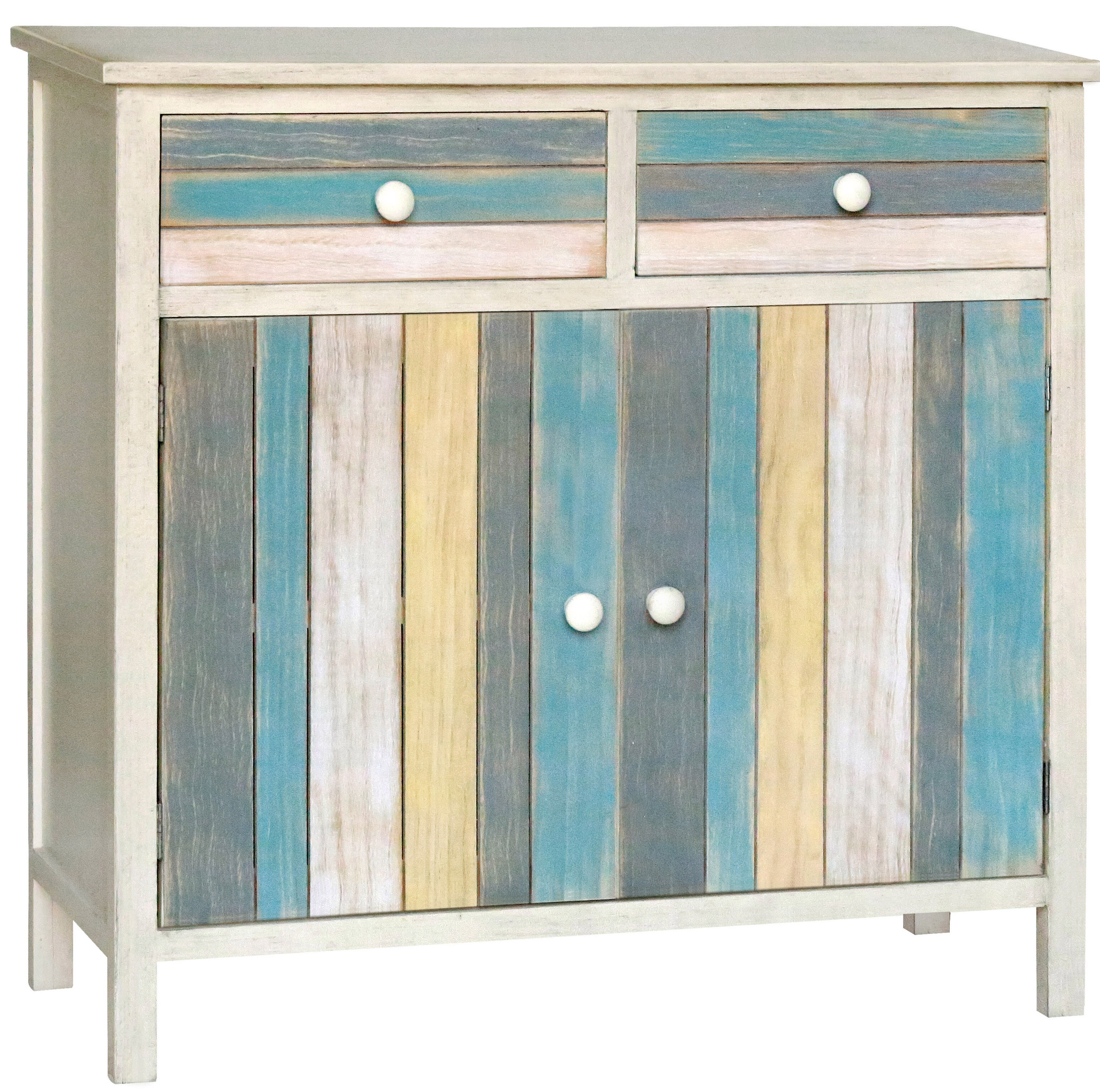 Gallerie Decor Seaside 2 Drawer and 2 Doors Accent Cabinet & Reviews ...