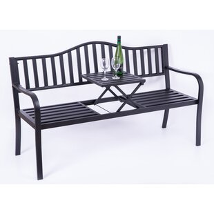 Dore Powder Coated Steel Park Bench by Alcott Hill