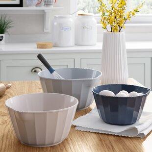 Bade Assorted 3 Piece Melamine Mixing Bowl Set
