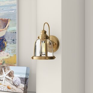 Douglas Forge Banded Dome 1-Light Armed Sconce by Breakwater Bay