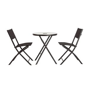SoBe 3-Piece Illuminated Folding Bistro Set