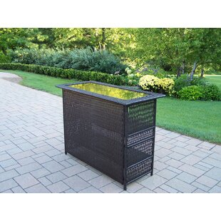 Elite Resin Wicker Home Bar by Oakland Living Amazing