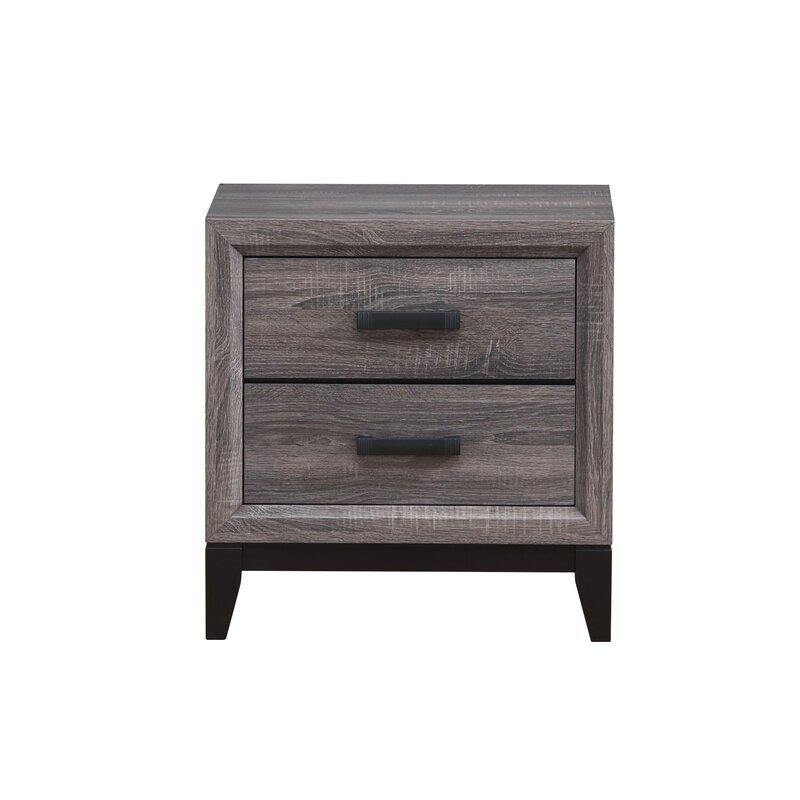 The Furniture Outlet Gloucester Oak 2 Drawer Narrow Bedside Table