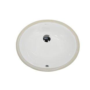 UCore Ceramic Oval Undermount Bathroom Si..
