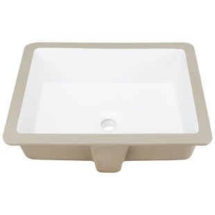 Ticor Sinks Belfast Series Vitreous China Rectangular Undermount Bathroom Sink with Overflow