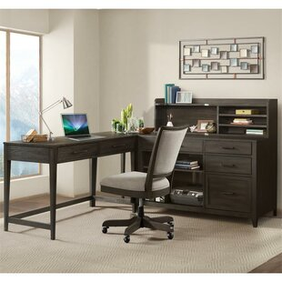 Gracie Oaks Workman 5 Piece L-Shape Desk Office Suite