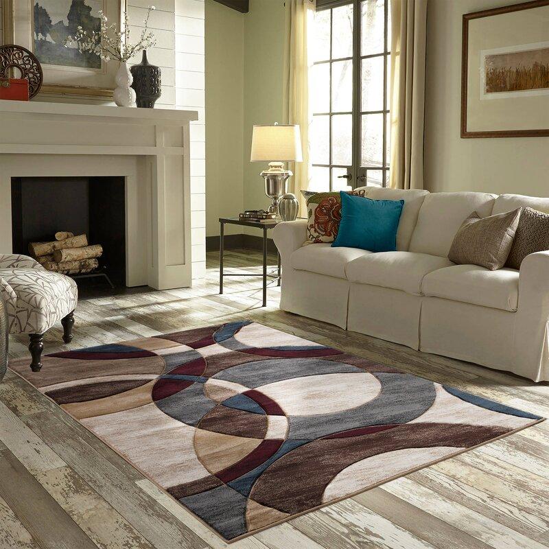 Wrought Studio Adonia Abstract Brown Gray Area Rug Wayfair