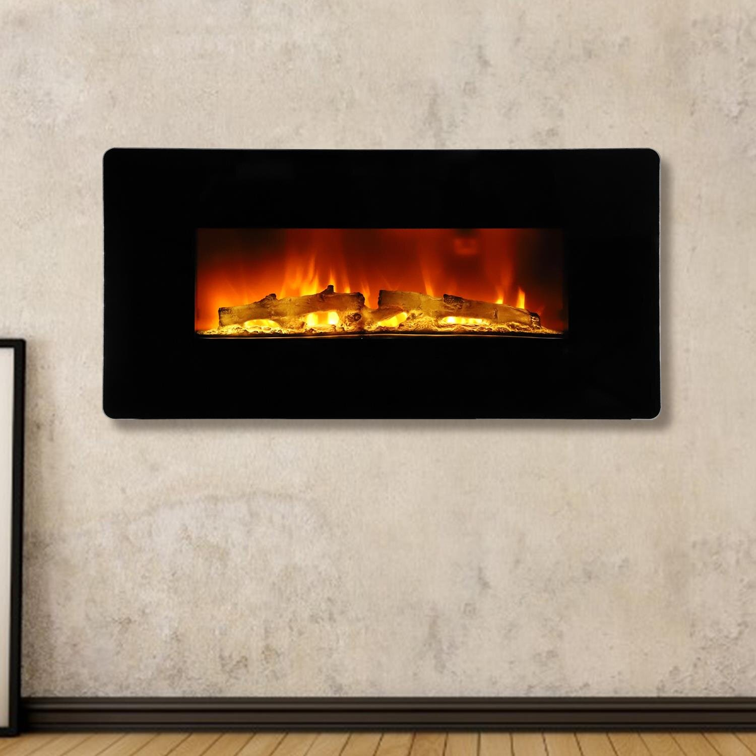 30 40 Inches Wall Mounted Electric Fireplaces Stoves You Ll Love In 2021 Wayfair