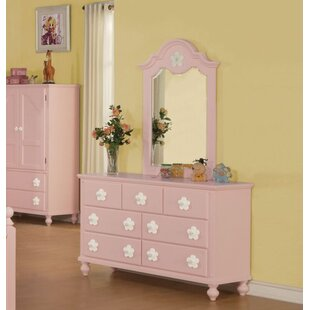 Compare Eslick 7 Drawer Dresser with Mirror by Harriet Bee Reviews (2019) & Buyer's Guide
