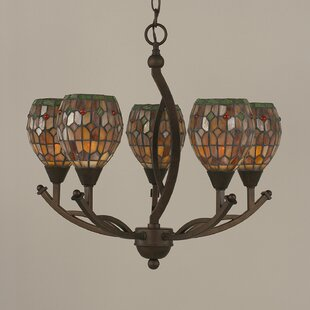 Astoria Grand Austinburg 5-Light Shaded Chandelier