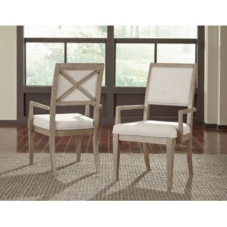 Amina Upholstered Arm Chair in White (Set of 2) by One Allium Way SKU:BD810318 Details