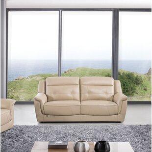 Latitude Run Ugalde Leather Sofa