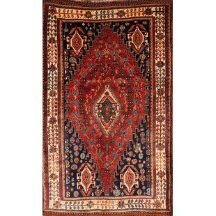Find for One-of-a-Kind Leech Lori Shiraz Rare Hand-Knotted 4'10 x 8'1 Wool Black/Burgundy/Beige Area Rug By Isabelline