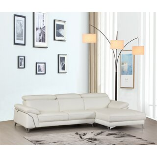 Amatia Leather Right Hand Facing Sectional by Orren Ellis SKU:BA786301 Purchase