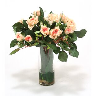 Roses Centerpiece in Decorative Vase by Distinctive Designs
