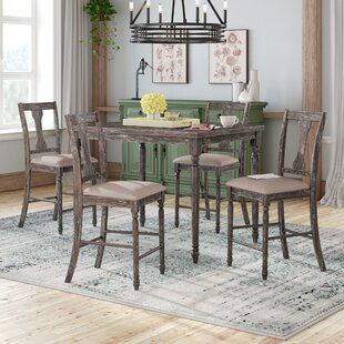 Dunwoody 5 Piece Counter Height Pub Table Set Three Posts