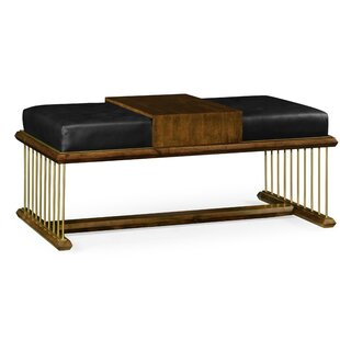 Camden Leather Bench by Jonathan Charles Fine Furniture