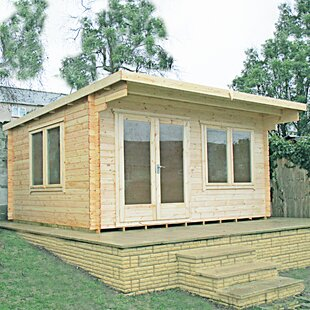 Chiron 10 X 10 Ft. Tongue & Groove Log Cabin By Sol 72 Outdoor