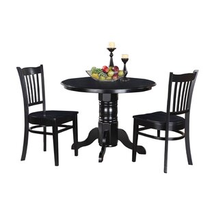 Morley 3 Piece Solid Wood Dining Set by TTP Furnish