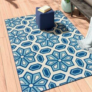 Barboza Ivory/Blue Indoor/Outdoor Area Rug