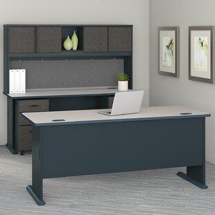 Bush Business Furniture Series A 4 Piece Desk Office Suite