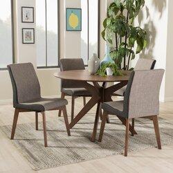 Mid Century Modern Dining Room Table wholesale interiors kimberly mid-century modern wood round 5 piece