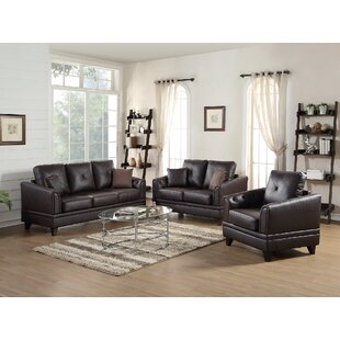 Torain 3 Piece Leather Living Room Set by Latitude Run