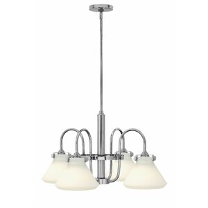 Bunnell 4-Light Cone Shaded Chandelier